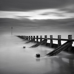 Mare Nostrum Echoes (RF-Edin) Tags: uk blackandwhite scotland edinburgh portobello leefilters