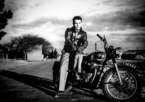 Motorcycle dad. South Africa Undated. Probably 1954