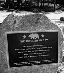 Missing history (#14 -112 in 2012) (raccoon-00) Tags: sign plaque reststop i80 thedonnerparty californiahistory actuallytakenjan132012