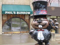 """Phil's Burrow"" @ the Library (US Rt 40) Tags: winter shadow weather sign statue phil pennsylvania pa groundhog legend treestump groundhogday punxsutawney weatherforecast punxsutawneyphil gobblersknob sixmoreweeksofwinter february2nd barclaysquare punxsutawneypa weathercapitaloftheworld weathercapital phantasticphil punsxyphil philsburrow"