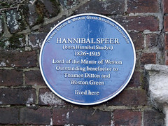 Photo of Hannibal Speer blue plaque