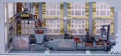 front view of line production (pabloglez) Tags: brown plant brick lego recycle moc pabloglez