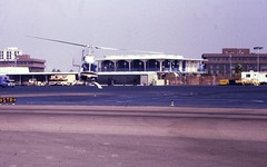 Helicopter, John Wayne Airport, 1981 (Orange County Archives) Tags: california history airport historical southerncalifornia orangecounty sna johnwayneairport orangecountyairport orangecountyarchives orangecountyhistory