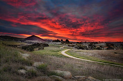 Sunrise over Picacho (JamesDPhotographer) Tags: sunset clouds views arroyogrande jamesodonnellphotographcentralcoastcalifornia hillbehindhighschoolinarroyogrande
