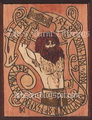 Thor 2 ( ) Tags: wood hammer odin thor viking runes asgard midgard jord norse mjolnir asatru pyrography