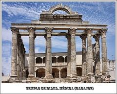 Postales.Templo de Diana.Mrida (Badajoz) (TATOTITOTU) Tags: canon romano ruina badajoz diana merida templo 60d