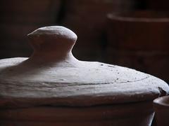 Plant Pots (rsherwoodpix) Tags: red garden ceramic lowlight gardening pot gardener