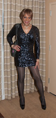Dinner Time At Keystone! (kaceycd) Tags: pumps highheels tgirl stilettoheels sequins pantyhose crossdress spandex lycra tg stilettos minidress sequined platformheels sexypumps opentoepumps platformpumps stilettopumps peeptoepumps