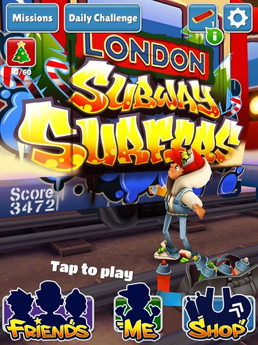 Subway Surfers Main Menu: screenshots, UI