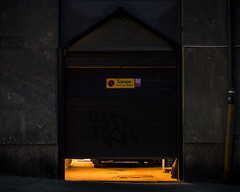 Garage (Markus Jansson) Tags: street longexposure light urban yellow night dark stockholm garage slowshutter vasastan