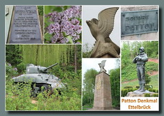 Denkmal zu Ehren des Generals Patton, Ettelbrck (p_jp55 (Jean-Paul)) Tags: monument collage patton luxembourg luxemburg ettelbruck denkmal saarlorlux mmorial ltzebuerg ettelbrck ettelbrck