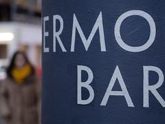 ermo bar (Cosimo Matteini) Tags: street woman london sign pen soho olympus brewerstreet m43 mft ep5 cosimomatteini mzuiko45mmf18 meleepere vermouthbar ermobar