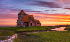 Morning-has-Broken (petefoto) Tags: clouds sunrise landscape kent sheep lambs filters 13thcentury romneymarsh watercourses stthomasabecketchurch nikond810