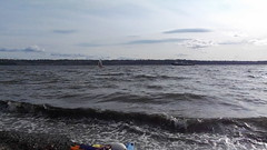 12p - May 27, 2016 - wind surfer at Browns Point (video bad when looking into sun) (kazuhikogriffin) Tags: windsurfers brownspoint