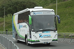 Orica GreenEDGE (Steve Dawson.) Tags: uk england sky signs buses race canon eos is team 1st yorkshire may bikes hills cycle tdy scarborough usm ef28135mm seafront kom uci sprints 2016 orica f3556 50d ef28135mmf3556isusm katusha canoneos50d tourdeyorkshire