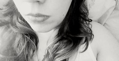 My Heart Is Not A Home For Cowards (A Touch Of Madness) Tags: blackandwhite bw selfportrait monochrome female longhair lips femaleportrait itsbeenawhile latenightphotos atouchofmadness samsungs5