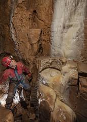OFD2-Above-Moonlight-Chamber-080516-7 (dudley bug) Tags: underground limestone cave caving karst cavern formations spelunking ofd ogof caver penwyllt ogofffynnonddu topentrance ofd2 moonlightchamber