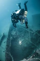 Exploring & Identification (garrelf) Tags: underwater dive scenic croatia scuba diving technical diver submerged wreck gue schiff dir taucher wrack kroatien tauchen unterwasser schiffswrack wreckdiving submersed technisches trimix krnica techdiving wracktauchen tecdive