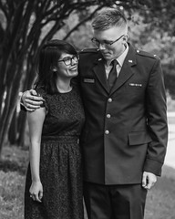 Olivia and Daniel - Engaged (osulls) Tags: blackandwhite canon engagement couple uniform texas graduation smiles airforce proposal collegestation usaf texasamuniversity usmilitary specialoccasion vsco canonrebelt3i vscocam maysbusinessscool