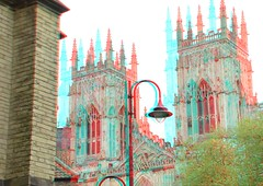 Minster Cathedral York 3D (wim hoppenbrouwers) Tags: york 3d cathedral anaglyph stereo minster redcyan minstercathedral york3d