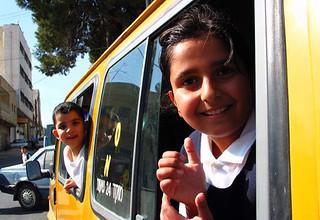 Schoolchildren in Ramallah