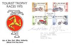 Gilera signed FDC 1975