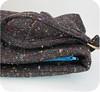 Zipper Peek (michellepatterns) Tags: brown wool diy sewing crafts handbag wristlet
