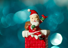 Santa Claus is coming tonight! (Mukumbura) Tags: christmas xmas blue decorations red chimney white ice smile face cake weihnachten festive season navidad wave noel gifts ornaments tinsel fatherchristmas santaclaus stnicholas nol waving merrychristmas natale nadal happychristmas feliznavidad joyeuxnol bonnadal kersfees frhlicheweihnachten