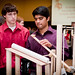 First year Engineering students work in teams to showcase their projects during the Freshman Engineering Design Day at the McKimmon Center.