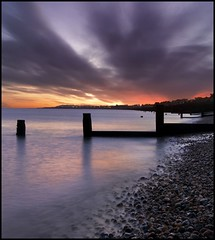 Whitstable at Dawn (adrians_art) Tags: longexposure sky cloud beach reflections dawn coast kent waves pebbles shore whitstable groynes