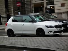 Skoda Fabia Vrs (kenjonbro) Tags: uk white london trafalgarsquare petrol skoda fabia vrs worldcars kenjonbro 1390cc fujihs10 gj61pcf