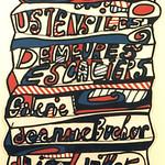 "<b>Ustensiles, Demeures, Escaliers</b><br/> Jean Dubuffet (1901-1985) ""Ustensiles, Demeures, Escaliers "" Lithographic Poster, 1967 LFAC #1994:04:05<a href=""http://farm8.static.flickr.com/7006/6438568093_cdd925f2cd_o.jpg"" title=""High res"">∝</a>"