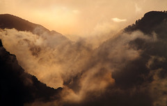 Rock Canyon Sunrise (arbyreed) Tags: mist mountains clouds sunrise creation genesis mistymountains squawpeak ymountain mountainsunrise utahcountyutah arbyreed
