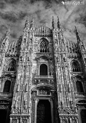 Gothic, Milano (alexbravewolf) Tags: light shadow bw italy cloud white black milan beautiful field clouds wow photo fantastic nikon pretty italia cathedral image very little good no background yes milano gorgeous awesome extreme great gothic group picture lot award superior super best explore more most maybe dome winner stunning excellent plus much network contact greatest duomo incredible bianco lombardia nero extra breathtaking exciting ohmy cattedrale lombardy 18105 gotico phenomenal d7000 alexbravewolf