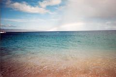 ombre ocean, rainbow sky