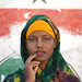 Portrait Of Cute Teenage Girl Wearing Qasil On Her Face - Berbera Somaliland