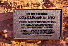 Hopi House plaque - Grand Canyon Village