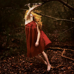 autumnal loss (Masha Sardari) Tags: autumn red tree fall leaf movement go falling dying twine letting