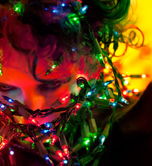 Day 11 of 365 - Year 3 (wisely-chosen) Tags: christmas holiday selfportrait me lights december canon50mmf18 2011 365days adobephotoshopcs5extended