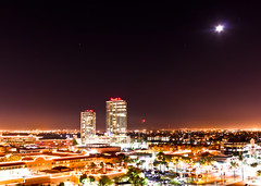 A Moon with a View (stouglas12) Tags: city light arizona phoenix night canon photography rebel long exposure cityscape scape tempe 2011 t1i stouglas12