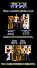 Worlds Best Bodybuilder is a Vegetarian - Comparison with Arnold Schwarzenegger - The Case against Lowcarb Atkins Meat vs Vegetarianism Diets - 4 (Vegetarian-Vegan-Bodybuilding-Info) Tags: vegan muscle vegetarian atkins diet lowcarb paleo vitamins vitaminb12 naturalhygienesociety