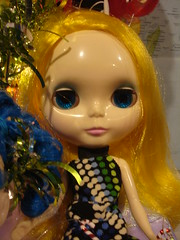Feather looks FAB with her new blue eyes!