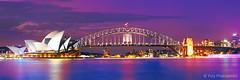 Sydney Icons (-yury-) Tags: sunset panorama landscape cityscape sydney australia nsw operahouse harbourbridge sydneyharbour nigh