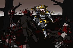 Invincea and the Warriors from Hell (Doodstormer) Tags: death hell battle bow carnage warriors overkill stabby invincea