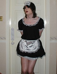 frenchmaid2 (Tied and Gagged Gurl) Tags: tv cd tights hose apron transgender glossy sissy transvestite maid pantyhose crossdresser nylon petticoat tg nylons frenchmaid petticoats