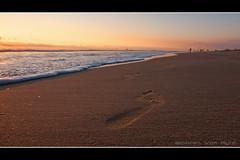 Winter Walk (Miserlou) Tags: ocean california county winter sunset orange storm west beach water canon coast pier sand waves photos huntington 1022 wwwocphotographicscom