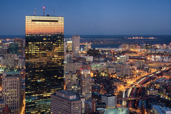 [330] Boston by night. (Linh H. Nguyen) Tags: light reflection boston night sony trails landmark observatory 365 skywalk architectures topofthehub penf3818 nex5n