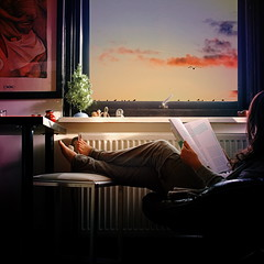 I have learned (monyart) Tags: xmas blue light shadow red portrait woman selfportrait tree cute feet me window colors girl beautiful amsterdam contrast hair myself relax book holidays hand edited io barefoot girlpower lovely homesweethome monyart