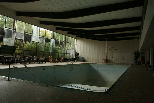 Empty indoor pool