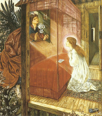 "Sir Edward Coley Burne-Jones (1833- 1893) - ""The Annunciation, the Flower of God"" (sofi01) Tags: annunciation burnejones"